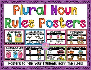 plural noun rules  posters  teaching  love