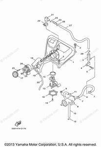 Yamaha Scooter 2010 Oem Parts Diagram For Fuel Tank