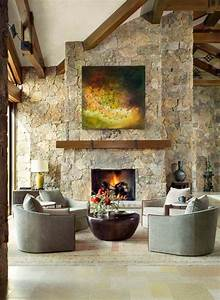 Stone, Fireplace, Ideas, For, Cozy, Comfort