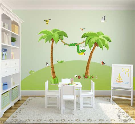 Wandtattoo Kinderzimmer Palme by Wandtattoos Dschungel Im Kinderzimmer Mhbilder