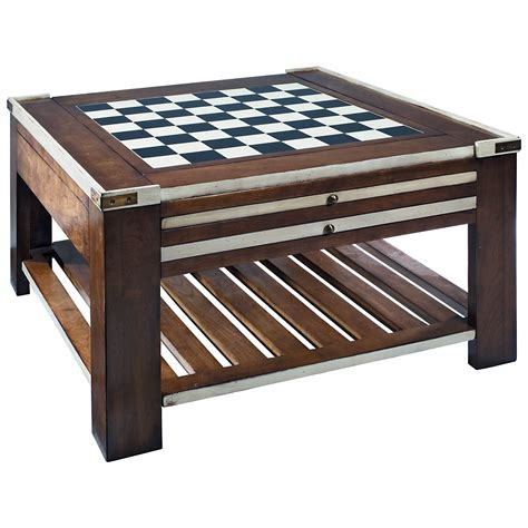 Authentic Models Game Table Coffee Table  Ivory Coffee