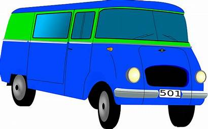 Bus Clip Clipart Mini Van Vector Cartoon
