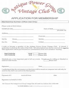 membership form template pictures to pin on pinterest With social club membership application form template