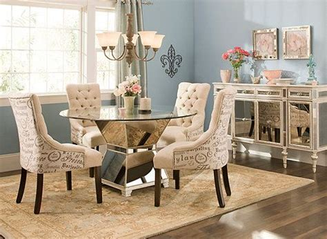 mirage  pc  glass dining set dining sets raymour  flanigan furniture   home