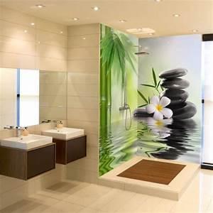 Panneaux D Habillage Pour Rénover Sa Salle De Bains : floral 2 panneaux cr dences panneaux d coration ~ Melissatoandfro.com Idées de Décoration