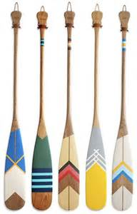 Painted Oars And Paddles by Picks Pendelton Blankets Oar Decor And Canoe