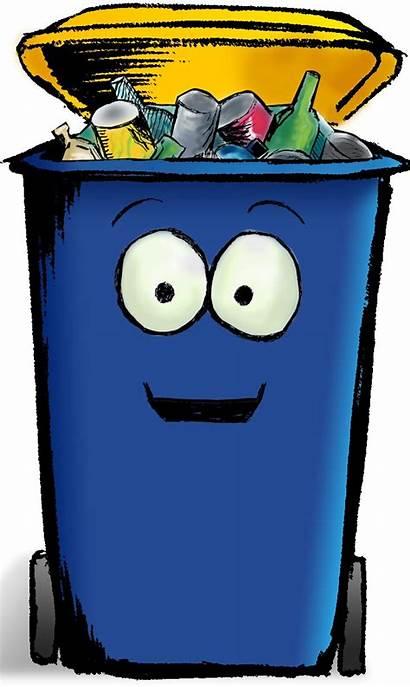 Bin Recycling Cartoon Clip Rubbish Recycle Clipart