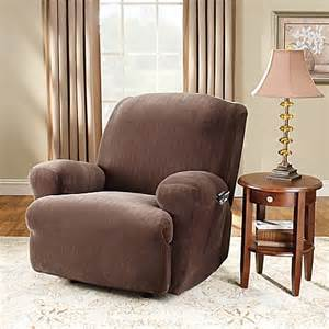 sure fit 174 stretch pinstripe recliner slipcover bed bath