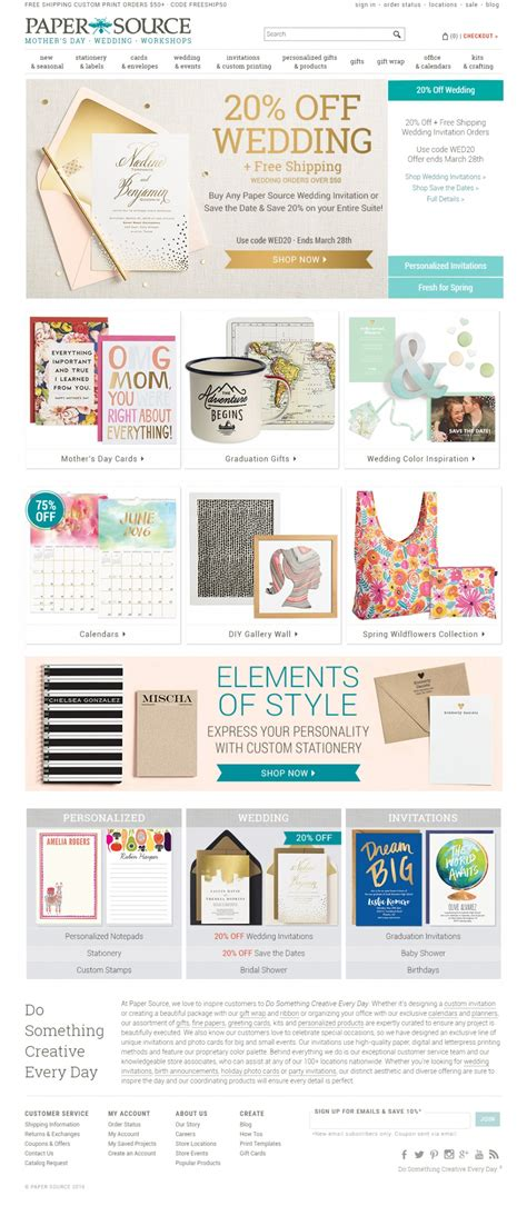 three designing paper source paper source on cart craze ecommerce website design