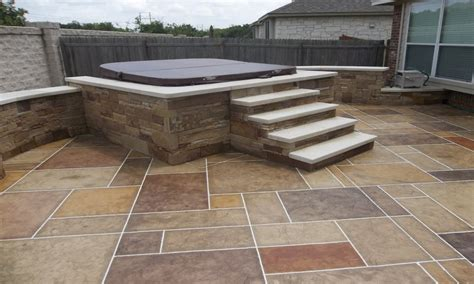 patios with tubs sted concrete patio with plants