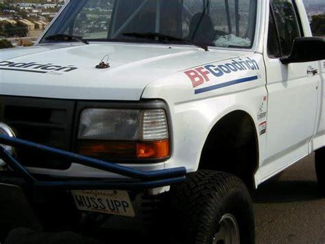 ford fbronco  road fiberglass hood race