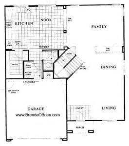 Staircase Floor Plan by Black Ranch Floor Plan Kb Home Model 2760 Stairs