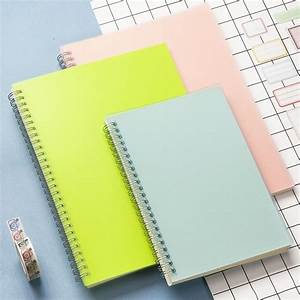 A5 Colored Pp Cover Dot  Grid  Blank  Line Coil Sketchbook