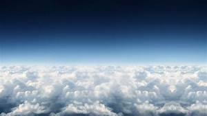 Beautiful sky over the clouds