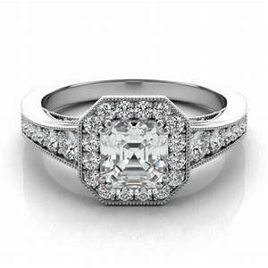 asscher cut forever one diamond engagement ring 14k 18k With the forever diamond wedding ring
