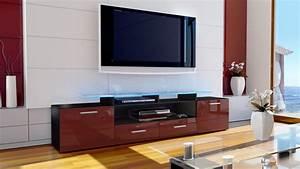 Regal Schwarz Hochglanz : tv lowboard board schrank m bel fernseh regal tisch almada v2 schwarz hochglanz ebay ~ Markanthonyermac.com Haus und Dekorationen
