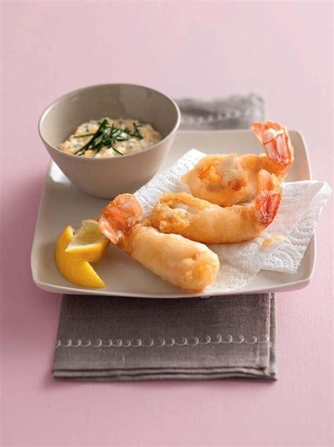 recette tempura de langoustines sauce tartare