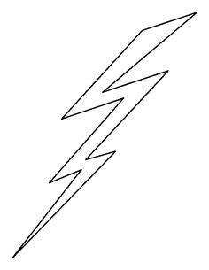 free lightning bolt stencil | Lightening clip art