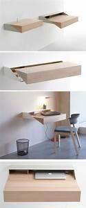 Meuble Avec Table Rabattable : le bureau pliable est fait pour faciliter votre vie ~ Teatrodelosmanantiales.com Idées de Décoration