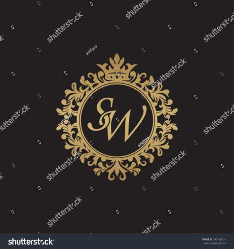 sw initial luxury ornament monogram logo stock vector illustration 343796516
