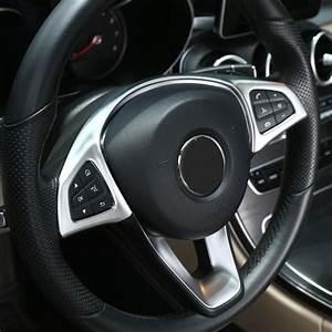 Accessoires Mercedes Glc : chrome steering wheel button trim car accessories for mercedes benz glc c e class w205 w213 2016 ~ Nature-et-papiers.com Idées de Décoration