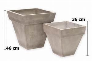 Blumentöpfe Aus Stein : fiberglas blumentopf in beton optik jetzt ~ Lizthompson.info Haus und Dekorationen