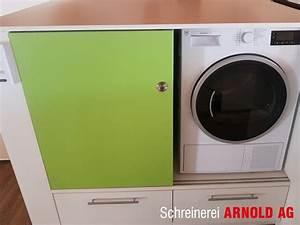 Regal Für Waschmaschine : waschmaschine und trockner verkleiden schreinerei arnold ag ~ Markanthonyermac.com Haus und Dekorationen