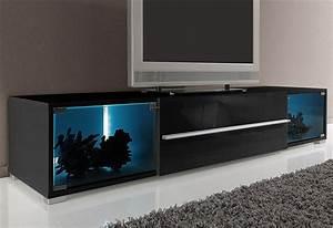 Tv Lowboard Mit Tv Halterung : tv lowboard mit 2 vitrinenf chern breite 141 cm oder 161 ~ Michelbontemps.com Haus und Dekorationen
