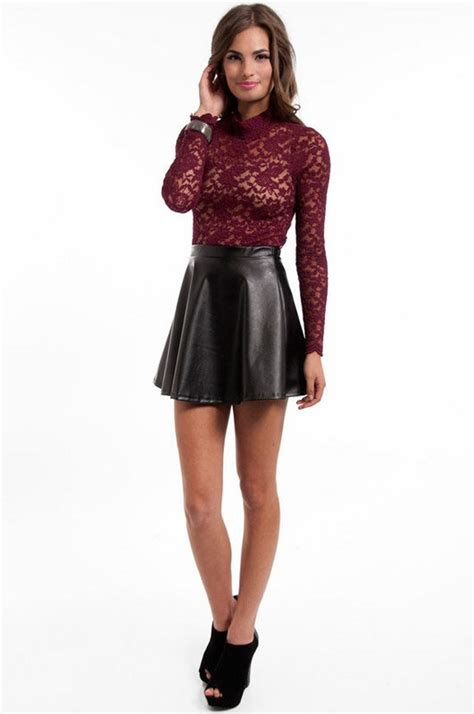 37 best images about Leather Skirt Outfit Inspiration on Pinterest | Skirt fashion Skirts and ...