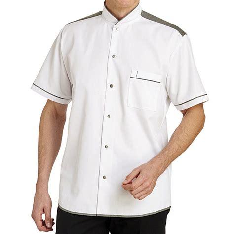 veste de cuisine manche courte veste de cuisine manches courtes style chemise tendance