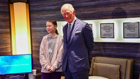 davos  prince charles meets greta thunberg