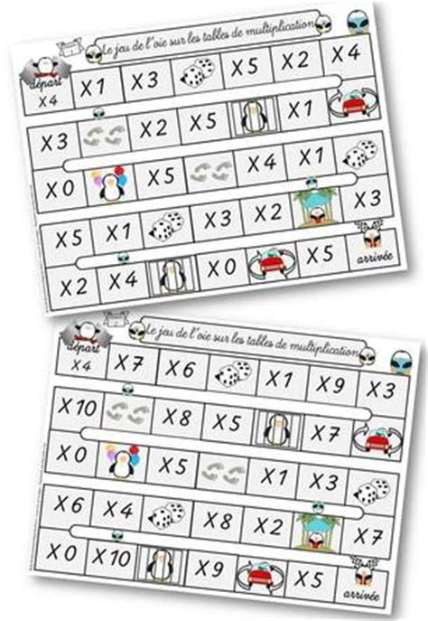 table de multiplication jeux ce2 la multiplication le 231 ons quelques outils et jeux szorz 243 t 225 bla