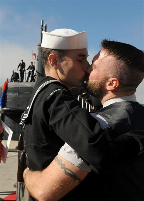Gay Male Couple S First Kiss Makes Navy History NBC News