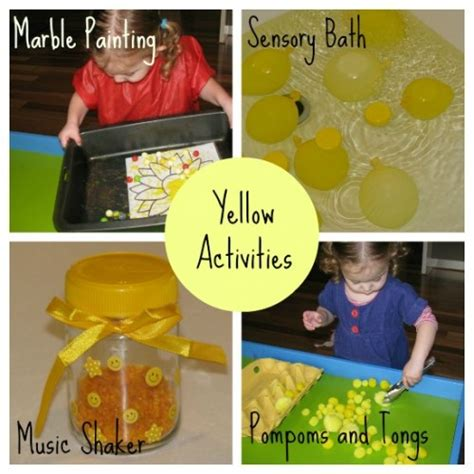 learning colours yellow learning 4 858 | Yellow Activities 500x500