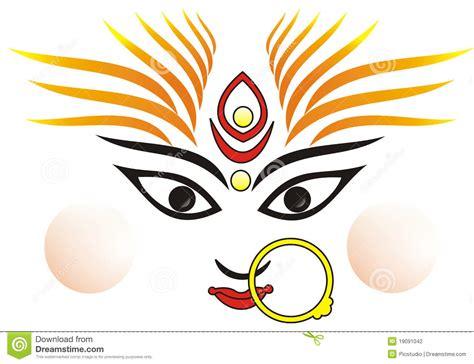 Maa Durga Face Clipart 2 » Clipart Station