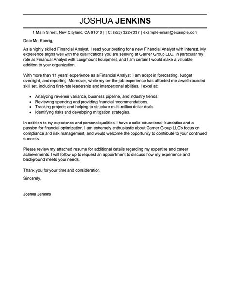 business analyst cover letter examples business sample cover letters livecareer