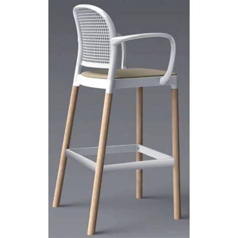 chaise h et h tabouret de bar avec accoudoirs 80cm panama243