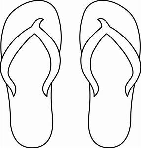 flip flops free coloring pages With flip flops