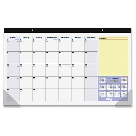monthly desk pad calendar at a glance monthly desk pad calendar ld products