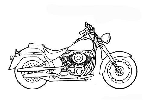 Dibujos Para Colorear De Motos Chopper