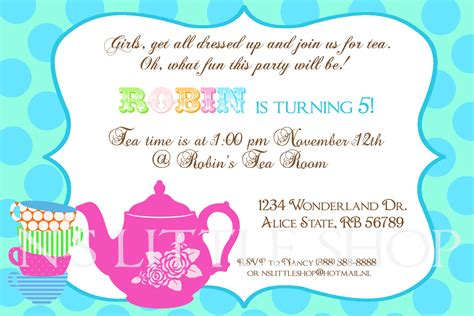 invitation party templates tea party invitation wording template best template