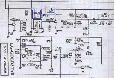 solucionado tv lg cp29c34h con capacitor ceramico calsinado yoreparo