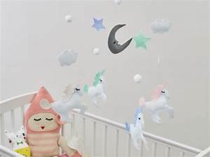 Mobile Chambre Bébé : deco licorne chambre ~ Teatrodelosmanantiales.com Idées de Décoration