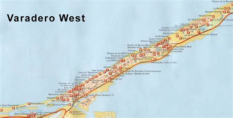 map  hotels  varadero cuba pictures
