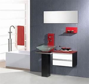 Salle de bain design l39eau a l39honneur notre salle de bain for Meuble salle de bain en plexiglas