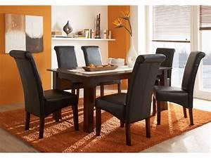 Chaises cuir marron salle manger le monde de lea for Meuble salle À manger avec chaises salle À manger simili cuir