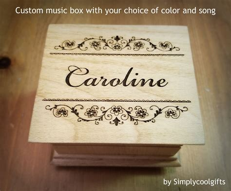 Fully customized music box with your own song. Personalized Gifts - Engraved Music Box - Wooden Music Box - Flower Girl Gifts - Music Box ...