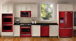 Image gallery red appliances for Kitchen colors with white cabinets with where can i buy stickers
