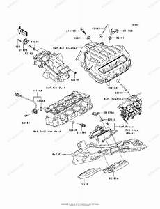 Kawasaki Motorcycle 2007 Oem Parts Diagram For Fuel