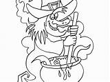 Witch Coloring Pages Scary Witches Halloween Printable Getdrawings Getcolorings sketch template